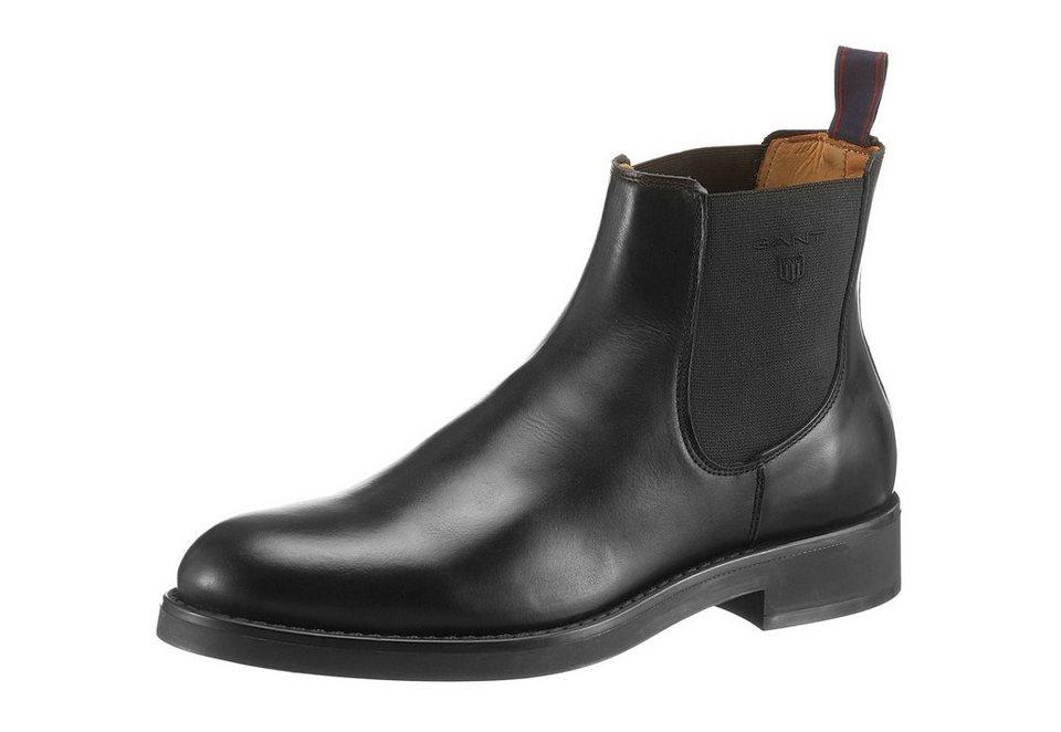 Gant Footwear »Oscar Chelsea« Chelseaboots mit Logo Applikation in schwarz