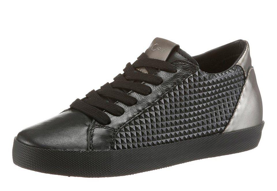 Donna Carolina Sneaker in schwarz-silbergoldfarben