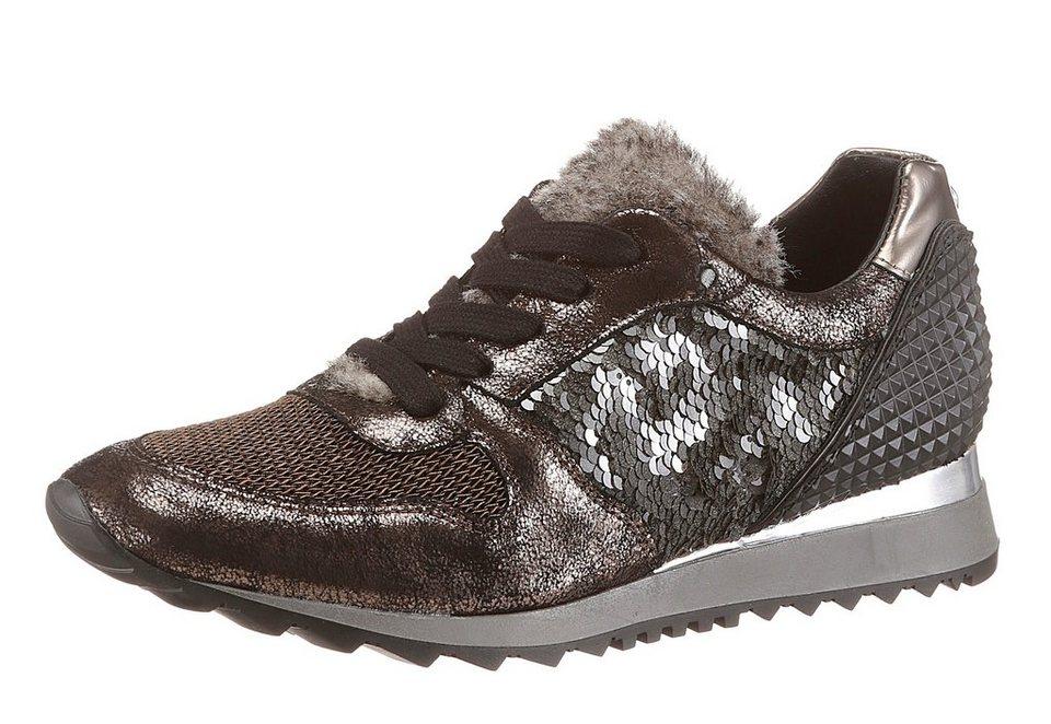 Donna Carolina Sneaker in bronzefarben-schwarz