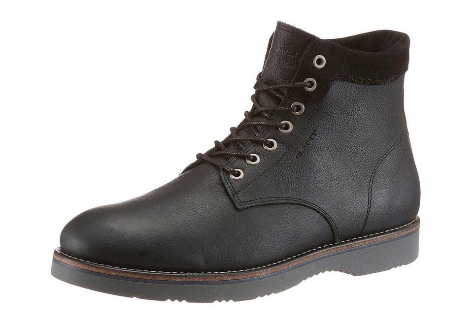 Gant Footwear »Huck« Schnürboots mit Logo Prägung in schwarz