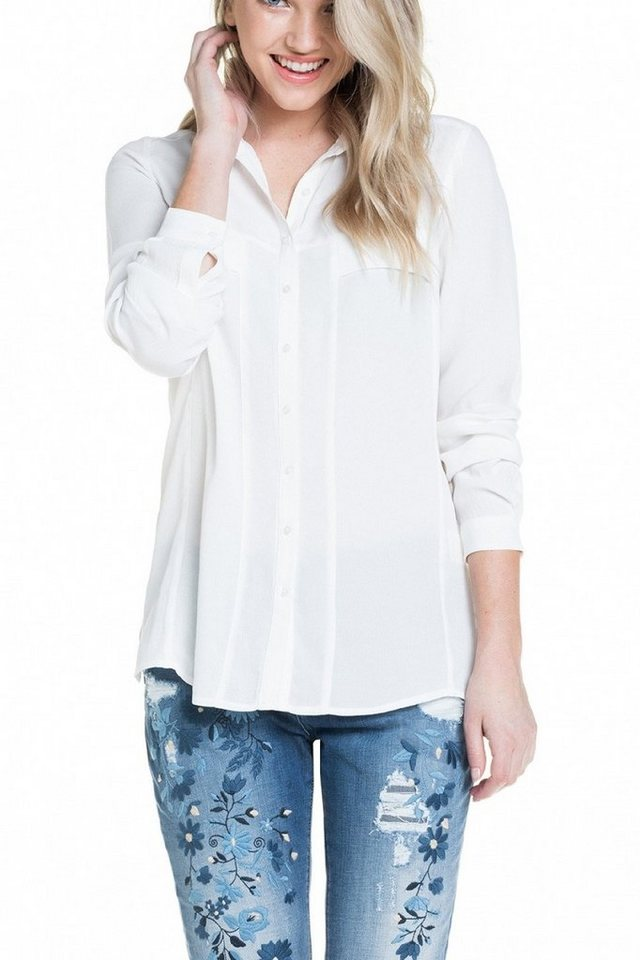 salsa jeans Bluse »MAGDALENA« in White