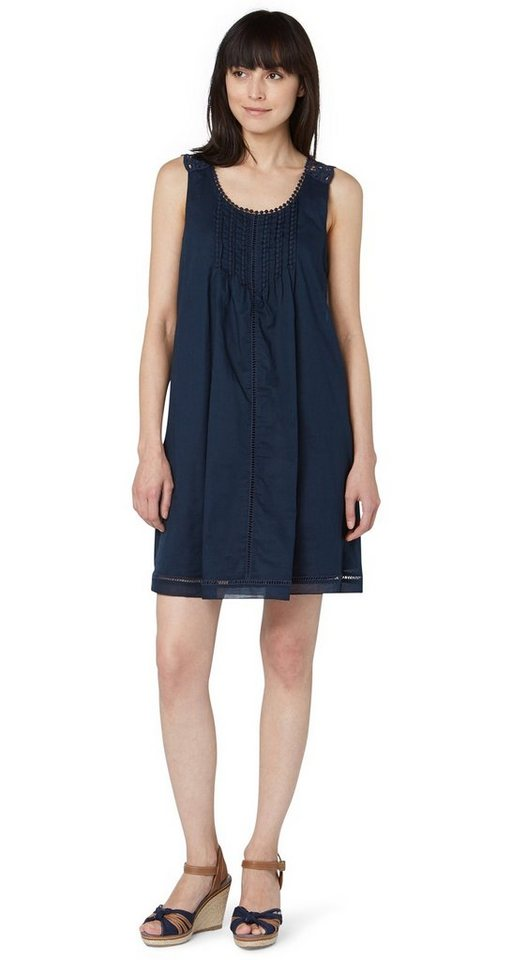 TOM TAILOR Kleid »summer a-shape dress« in real navy blue