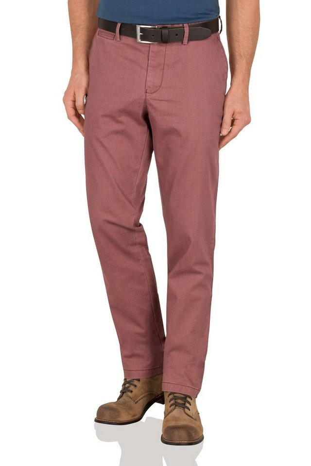 Redpoint Stretch Chino »Milton« in dk. red