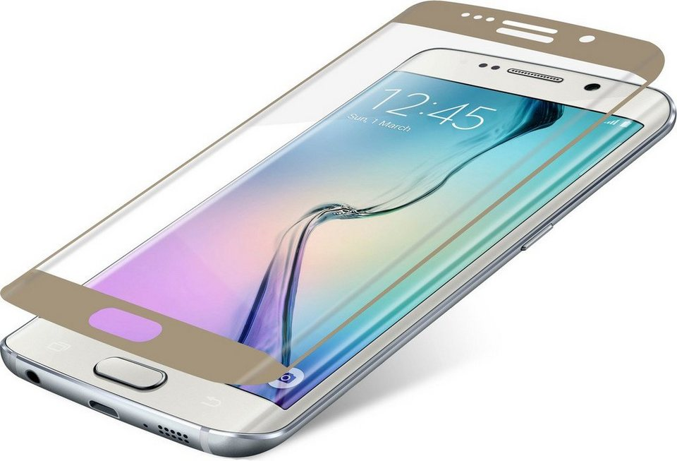 invisibleSHIELD Folie »Contour Glass für Galaxy S6 edge« in Gold-Transparent