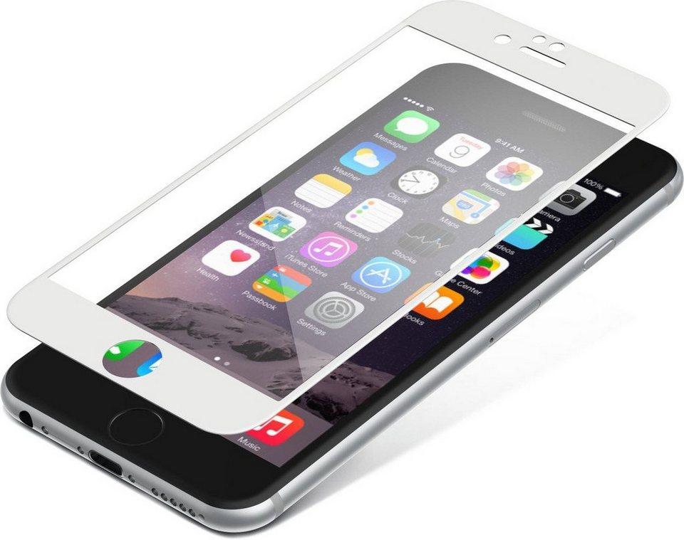 invisibleSHIELD Folie »Contour Glass für iPhone 6/ 6S« in Weiß-Transparent