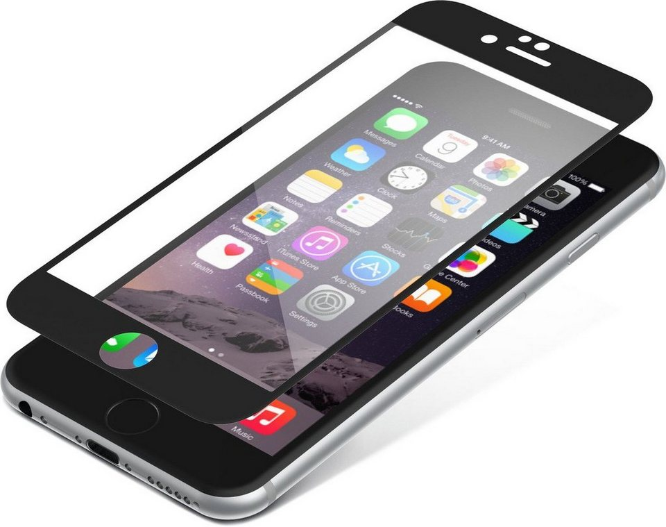 invisibleSHIELD Folie »Contour Glass für iPhone 6/ 6S« in Schwarz-Transparent