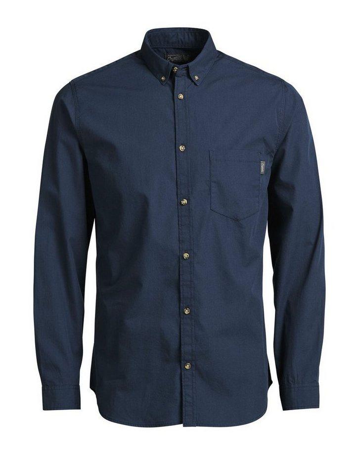 Jack & Jones Klassisches Langarmhemd in Navy Blazer