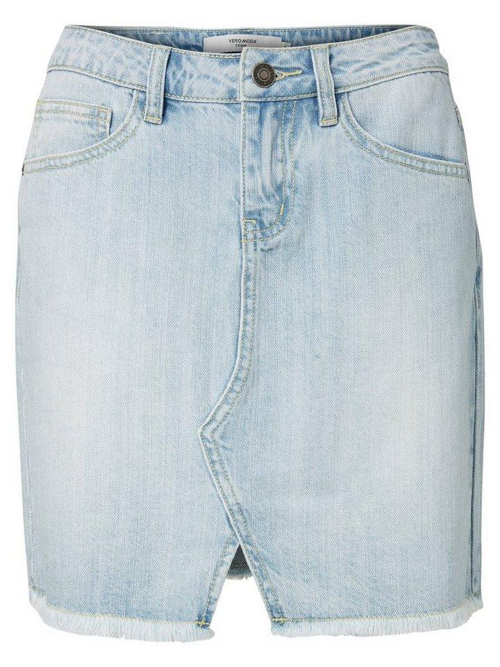 Vero Moda Kurzer Jeansrock in Light Blue Denim