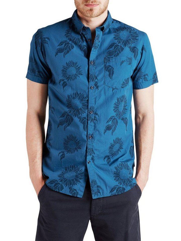 Jack & Jones Komplett bedrucktes Kurzarmhemd in Poseidon
