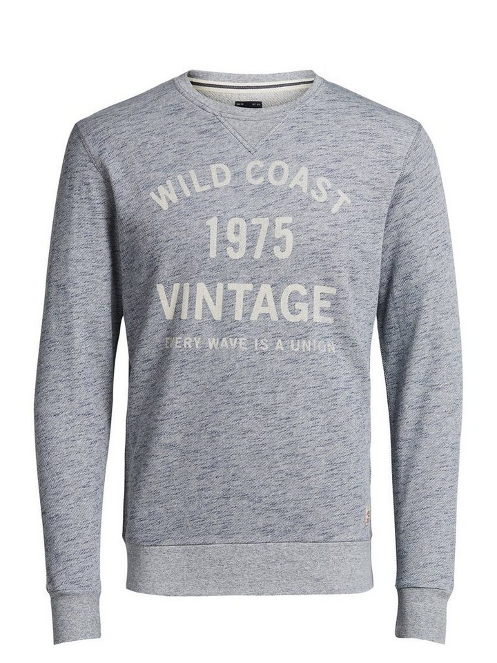 Jack & Jones Melange-Print- Sweatshirt in Mood Indigo