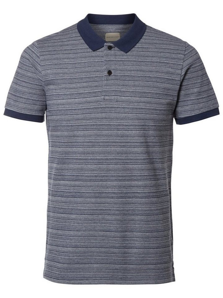 Selected Klassisches Poloshirt in Medieval Blue