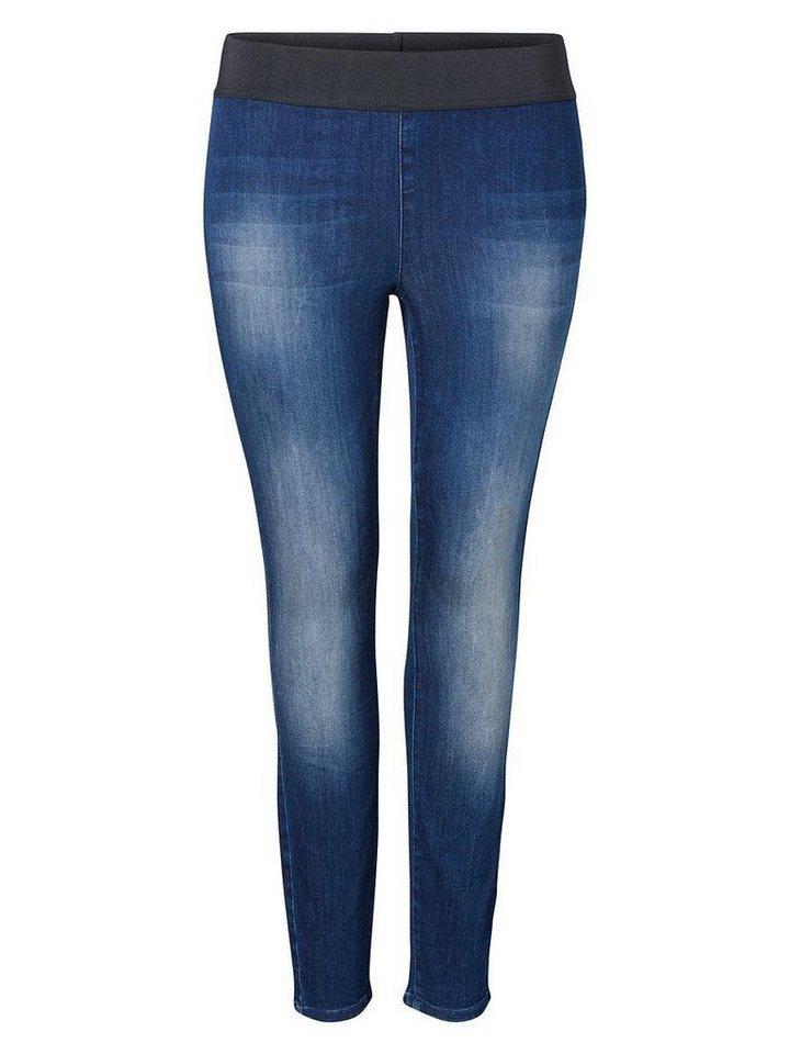 JUNAROSE Skinny- Jeans in Dark Blue Denim