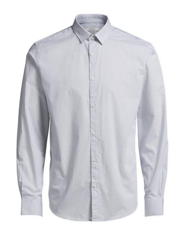 Jack & Jones Button-Under- Langarmhemd in Kentucky Blue