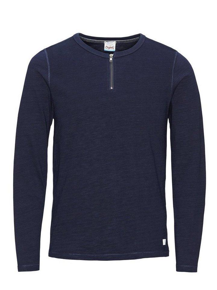 jack jones rei verschluss t shirt mit langen rmeln online kaufen. Black Bedroom Furniture Sets. Home Design Ideas