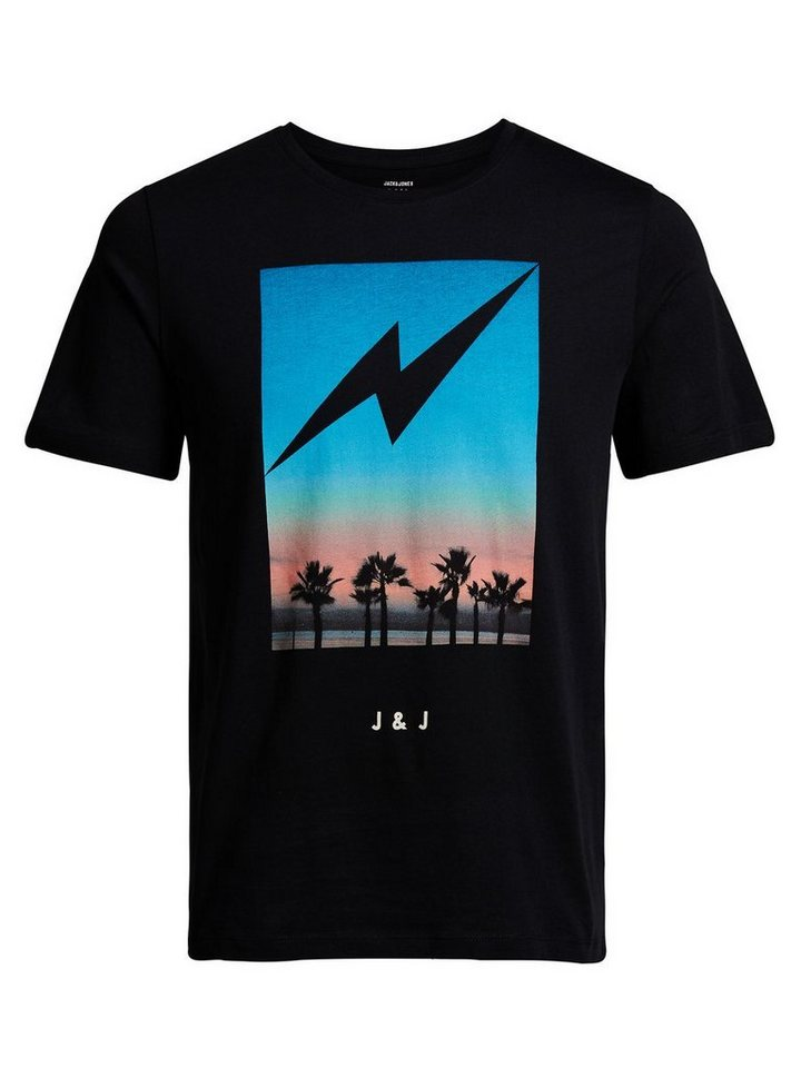 Jack & Jones Bedrucktes Slim-Fit- T-Shirt in Black