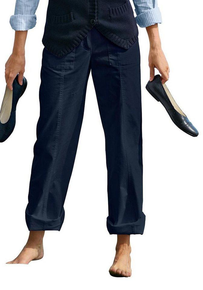 Eddie Bauer Straight Leg Hose in Navy