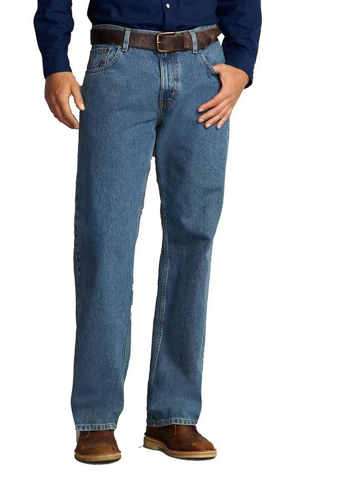 Eddie Bauer Relaxed Fit Jeans in Medium Stonewashed