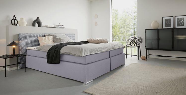 Boxbett »Korfu«, 180 cm breit, in 2 Härtegraden und 2 Farben, incl. Topper