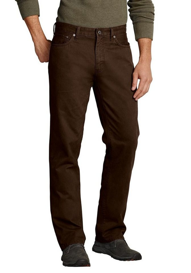 Eddie Bauer Five Pocket Chinohose in Braun