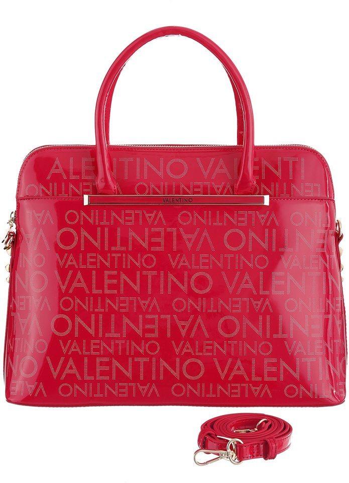 Valentino Henkeltasche mit Logo Aufschrift in fuchsia