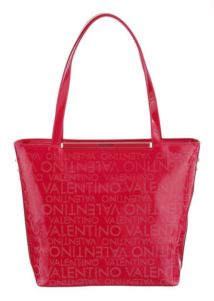 Valentino Shopper mit Logo Aufschrift in fuchsia