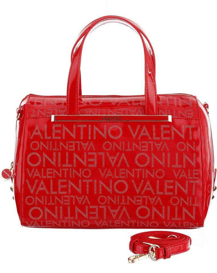Valentino Henkeltasche mit allover Logo Aufschrift in rot