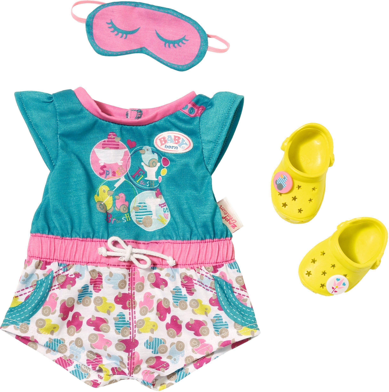Zapf Creation Puppenkleidung Größe 43 cm, »BABY born® Shorty Pyjama mit Clogs«