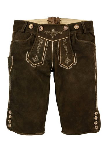 Costume Leather Pants Short Women With Embroidery, Marjo