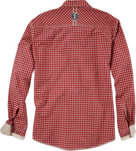 Trachtenhemd mit Aufnäher-Patches, Krüger Buam