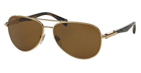 Bvlgari Herren Sonnenbrille » BV5036K« in 393/83 - gold/braun