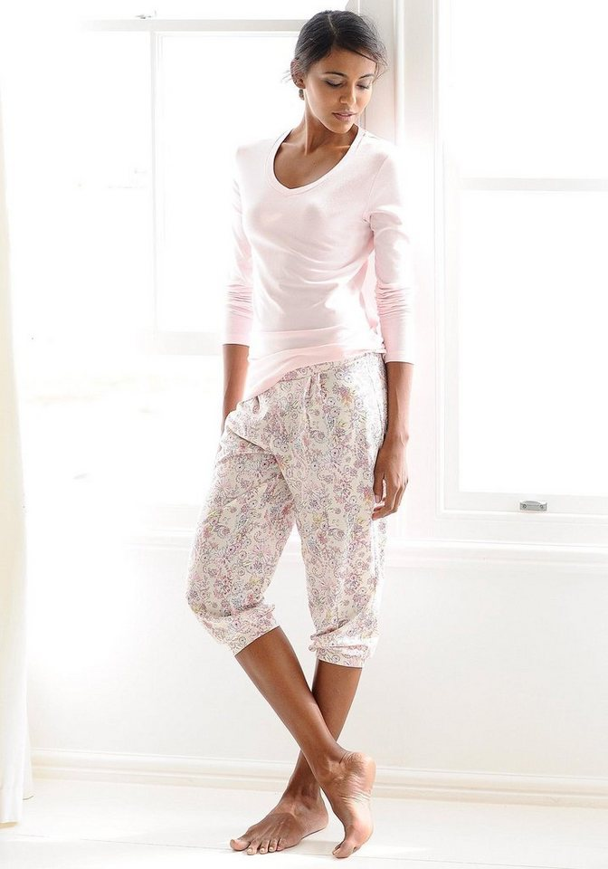 CALIDA Feminine Capri-Relaxhose »May« mit Bündchen in pearl cream