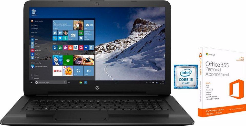 HP 17-x Notebook, Intel® Core™ i5, 43,9 cm (17,3 Zoll), 1000 GB Speicher, 4096 MB DDR4-SDRAM in schwarz