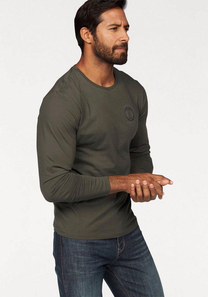 s.Oliver RED LABEL Langarmshirt in khaki