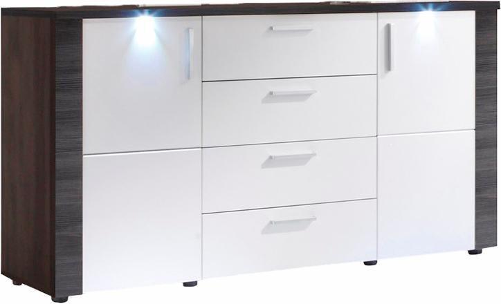 Sideboard, Breite 150 cm in weiß/eschefarben