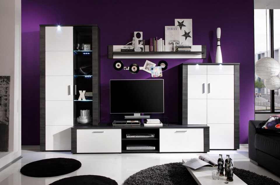 trendteam wohnwand xpress 4 tlg online kaufen otto. Black Bedroom Furniture Sets. Home Design Ideas