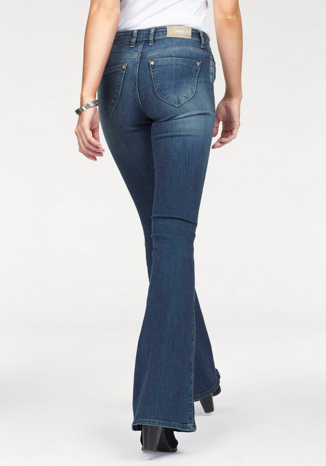 Only Bootcut-Jeans »Gigire« in blue-medium