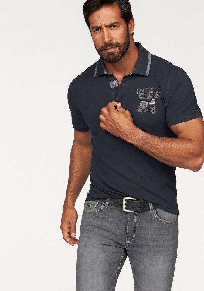 Arizona Poloshirt in Piqué-Qualität in nachtblau