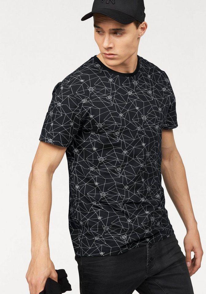 Bruno Banani T-Shirt in schwarz-bedruckt