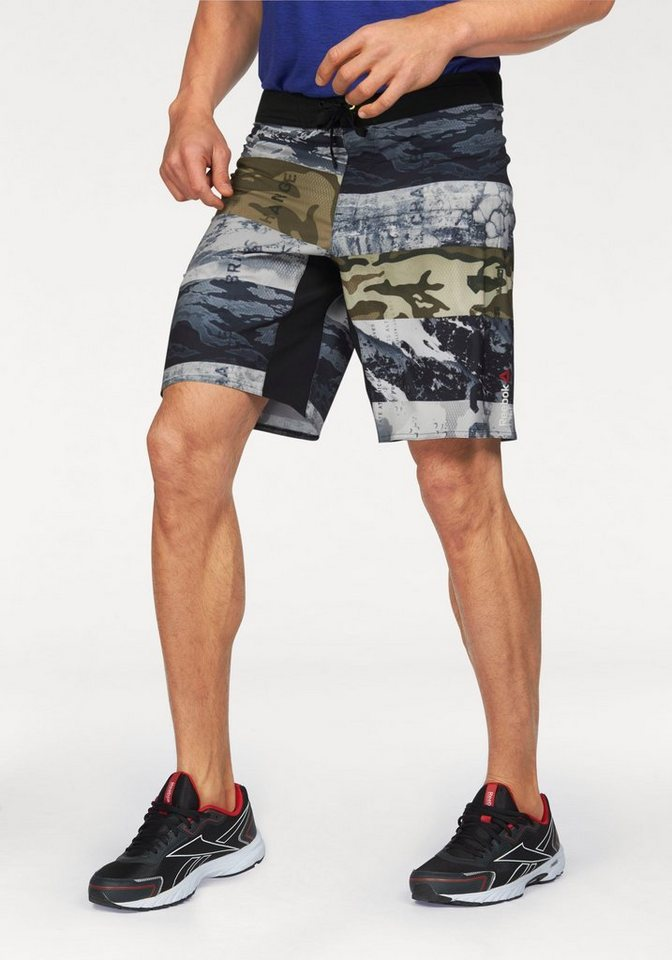 Reebok Shorts »One Series Winter Camo Sublimated Short« in tarnfarben