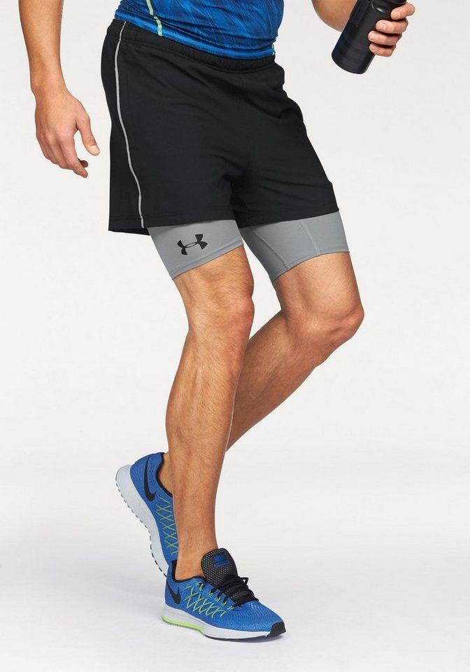 Under Armour® 2-in-1-Shorts »2-IN-1 TRAINER SHORT« in schwarz-grau