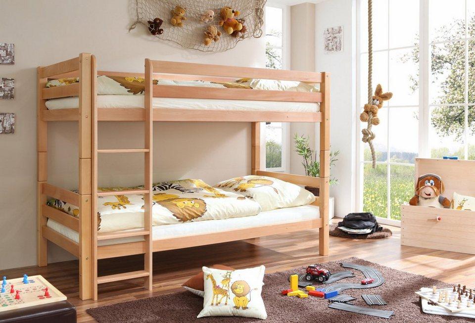 Etagenbett Holz Günstig : Ticaa einzel etagenbett buche »lupo« 2 kopfteile zur wahl online