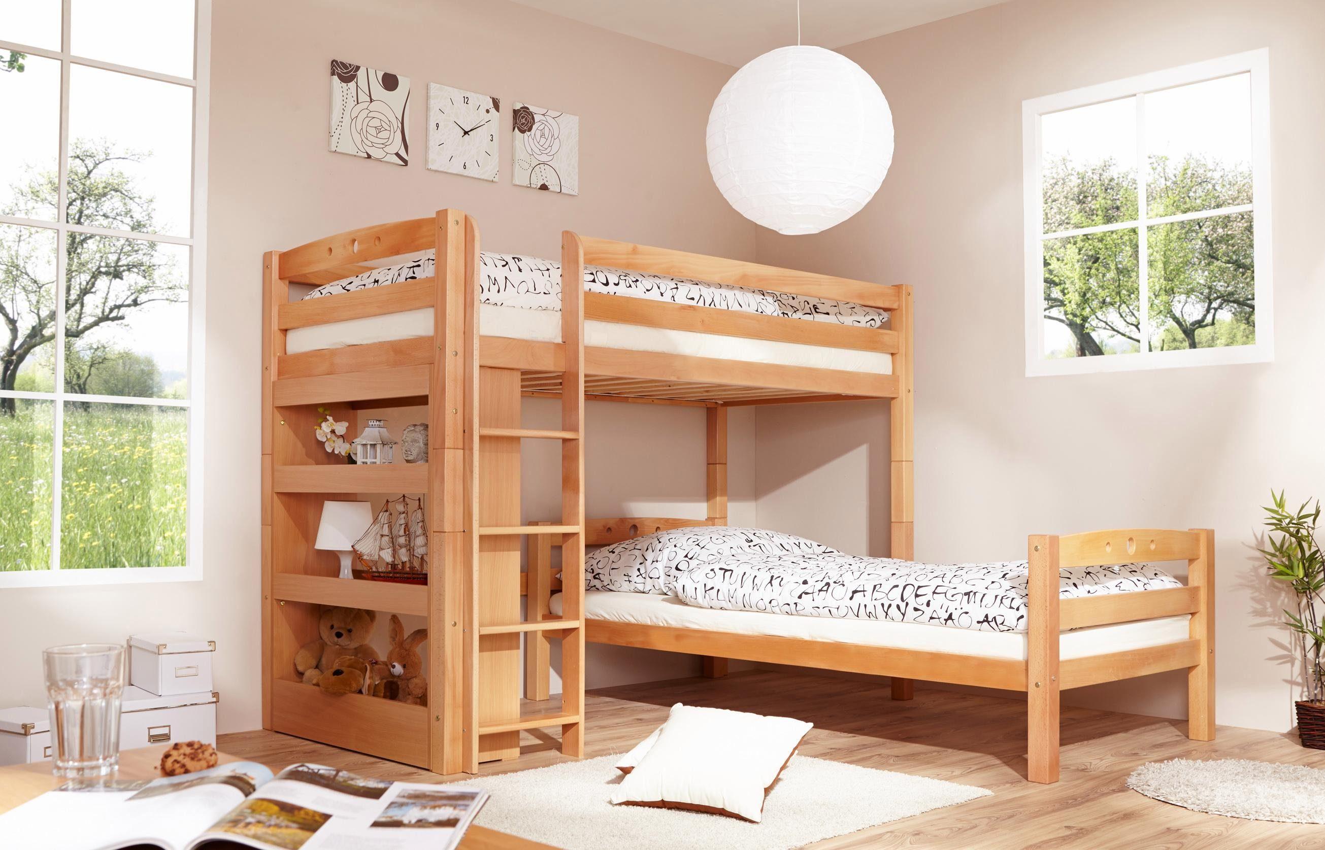 Etagenbett Lupo 2 : Gruen buche massiv etagenbetten online kaufen möbel suchmaschine