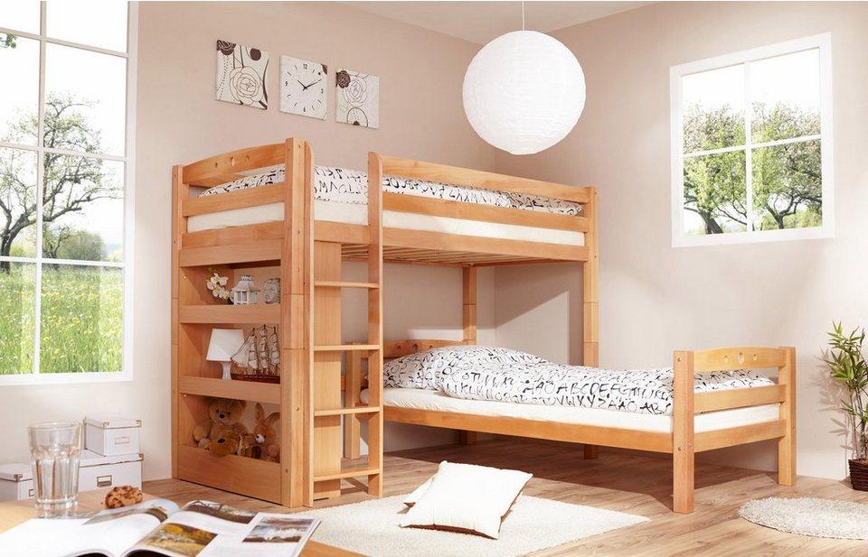 Etagenbett Buche Natur : Ticaa einzel etagenbett buche »lupo« umbaufähig zu 2 einzelbetten