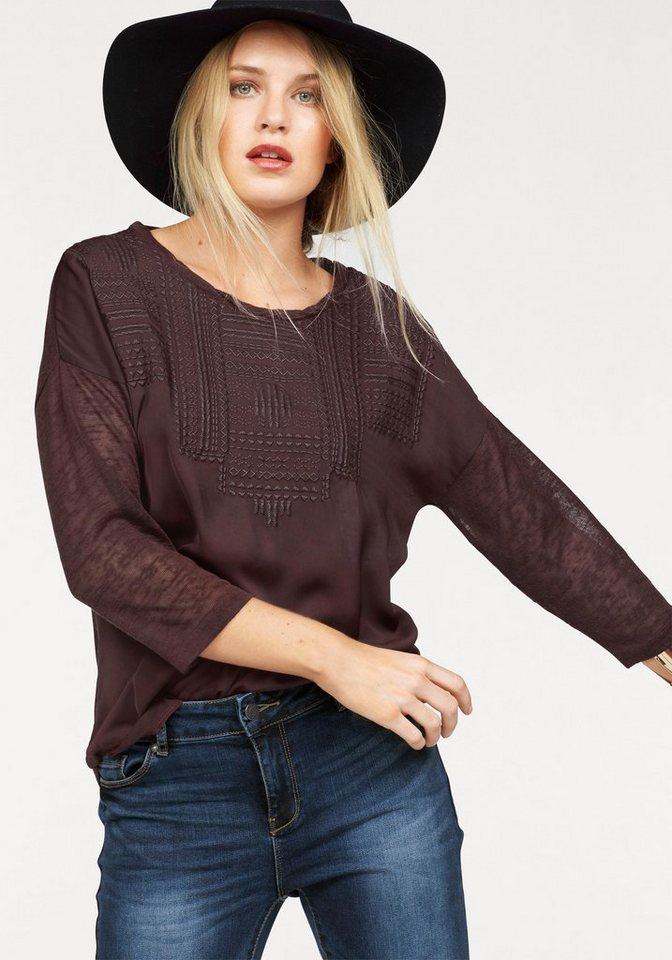 Vero Moda Langarmshirt »SALLY« in bordeaux