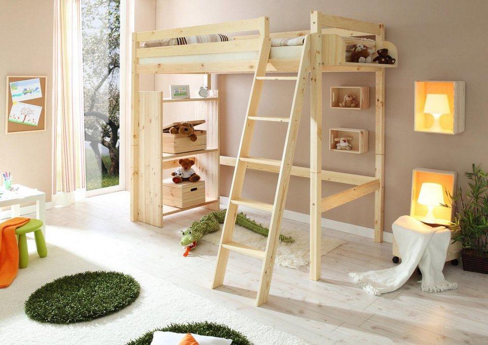 Ticaa hochbett in 2 breiten kiefer lio kaufen otto - Camerette bambini legno naturale ...