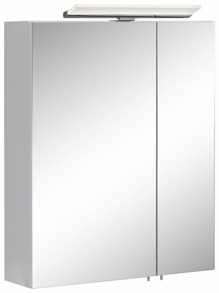 Schildmeyer Spiegelschrank »Joey« mit LED-Beleuchtung in weiß matt