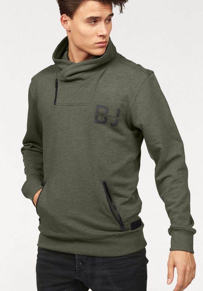 Bruno Banani Sweatshirt in olivgrün-meliert