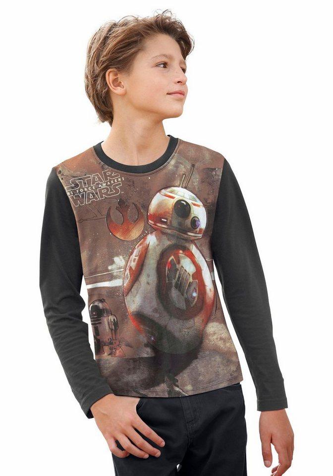 Star Wars Langarmshirt in anthrazit