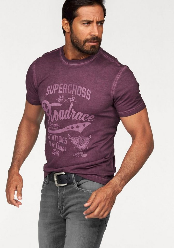 Arizona T-Shirt in bordeaux-washed