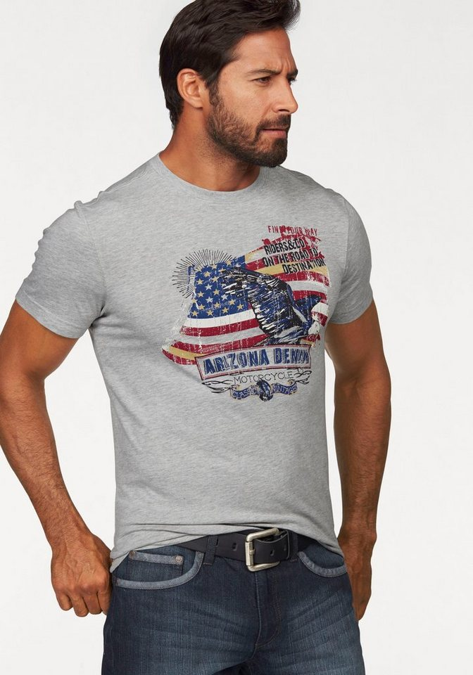 Arizona T-Shirt in hellgrau-meliert